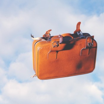 Luggage Travel Separation Flying Sky Clouds