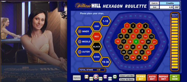 Hexagon Roulette in William Hill Vegas